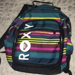 Roxy Striped Colorful School Backpack
